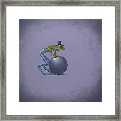 Metal Ball Framed Print by Jasper Oostland