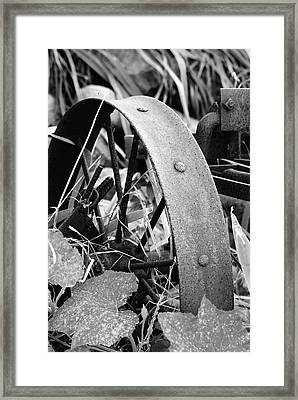Metal Wheel Framed Print by Michael Peychich
