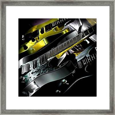 Metallic Guitars Framed Print by David Patterson