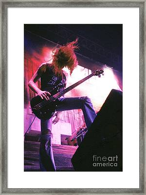 Metallica 1986 Cliff Burton Framed Print by Chris Walter