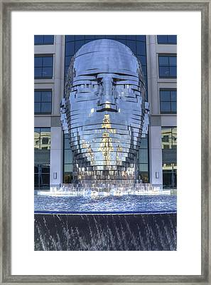 Metalmorphosis Statue Metal Sculpture Fountain Framed Print by Dustin K Ryan