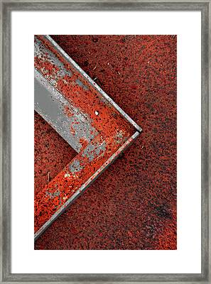 Angle Iron...raw Steel 2 Framed Print by Tom Druin