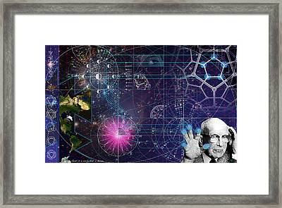 Metaphysical Gravity Framed Print by Kenneth Armand Johnson