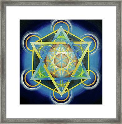 Metatron's Cube II Framed Print by Morgan  Mandala Manley