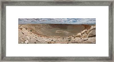 Meteor Crater Framed Print by Ryan Heffron