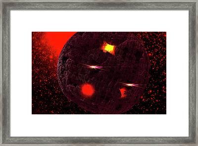 Meteoroid Framed Print by Ivanoel Art