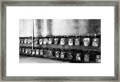 Meter Machines Framed Print by Jera Sky