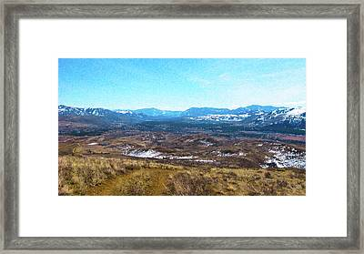 Methow Valley From Above Winthrop Landscape Photography By Omash Framed Print by Omaste Witkowski