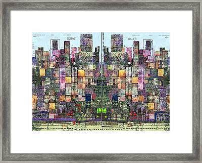 Metropolis Vi Framed Print by Andy  Mercer