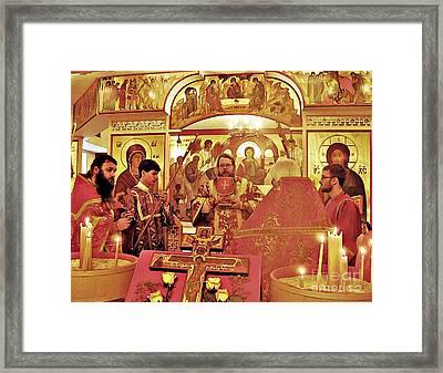 Metropolitan Jonah At St Mary Magdalen Church Framed Print by Sarah Loft