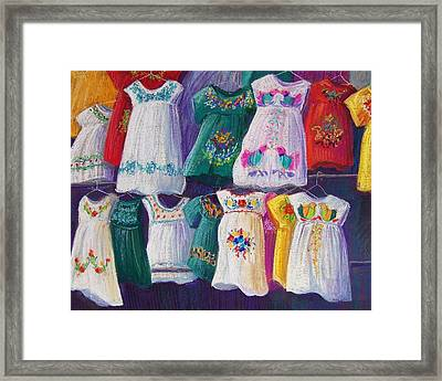 Mexican Dresses Framed Print by Candy Mayer