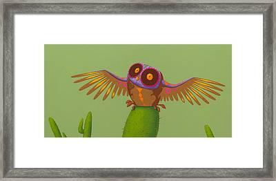 Mexican Owl Framed Print by Jasper Oostland