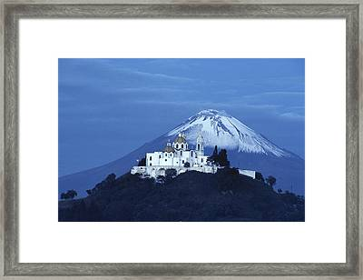 Mexico, Cholula, Catholic Church Framed Print by Keenpress