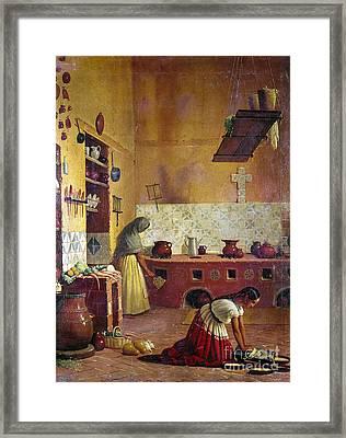 Mexico: Kitchen, C1850 Framed Print by Granger