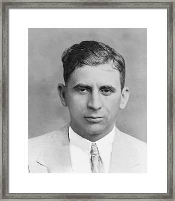 Meyer Lansky 1902-1983, In 1949 Framed Print by Everett
