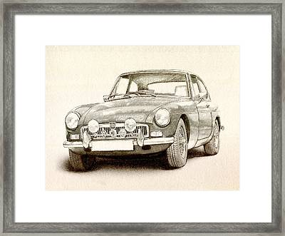 Mg Mgb Mkii Framed Print by Michael Tompsett