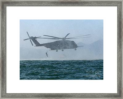 Mh-53e Sea Dragon Helicopter Framed Print by Celestial Images