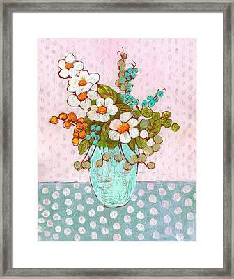 Mia Daisy Flowers Framed Print by Blenda Studio