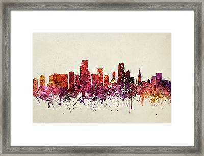 Miami Cityscape 09 Framed Print by Aged Pixel