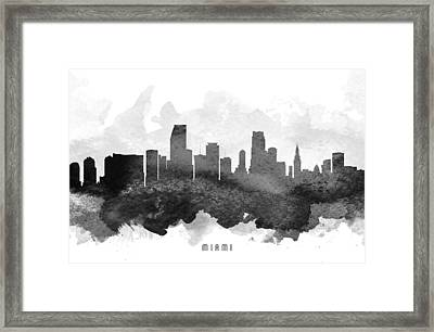 Miami Cityscape 11 Framed Print by Aged Pixel