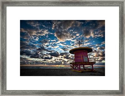Miami Dawn Framed Print by Dave Bowman