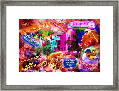 Miami Deco Framed Print by Marilyn Sholin
