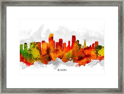 Miami Florida Cityscape 15 Framed Print by Aged Pixel