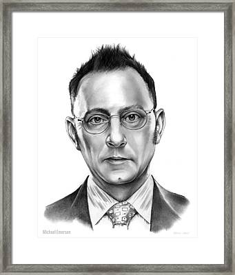 Michael Emerson Framed Print by Greg Joens