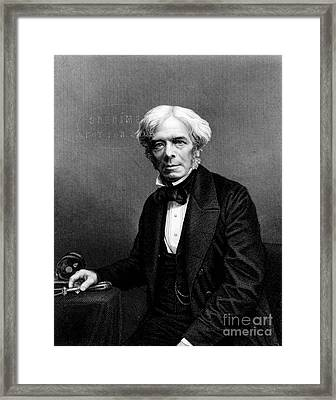 Michael Faraday, English Physicist Framed Print by Photo Researchers