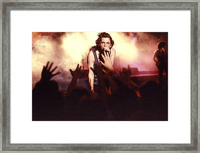 Michael Hutchence And Inxs 1985 Framed Print by Sean Davey