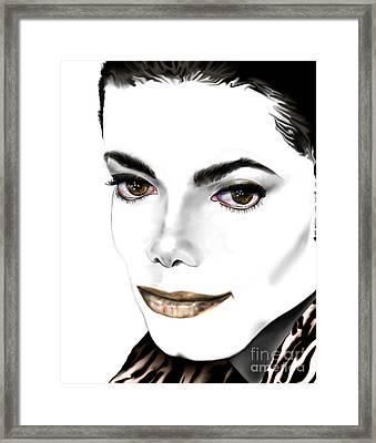 Michael J Framed Print by Reggie Duffie