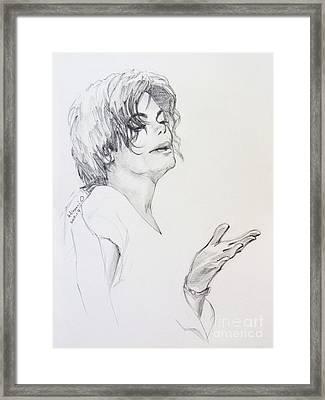 Michael Jackson - In 2001 Ny Framed Print by Hitomi Osanai