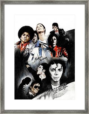 Michael Jackson - King Of Pop Framed Print by Lin Petershagen