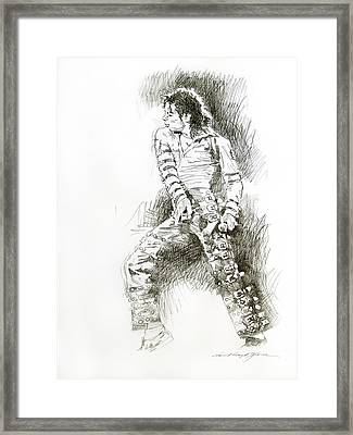 Michael Jackson - Onstage Framed Print by David Lloyd Glover