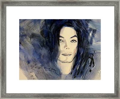 Michael Jackson - This Life Don't Last For Ever Framed Print by Hitomi Osanai