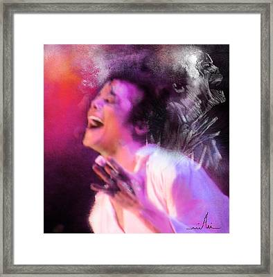 Michael Jackson 11 Framed Print by Miki De Goodaboom