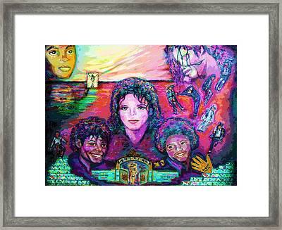 Michael Jackson 4-everland Framed Print by Regina Brandt