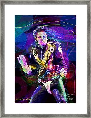 Michael Jackson '93 Moves Framed Print by David Lloyd Glover