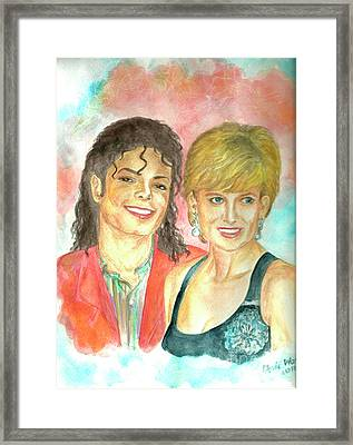 Michael Jackson And Princess Diana Framed Print by Nicole Wang