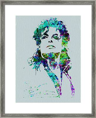 Michael Jackson Framed Print by Naxart Studio