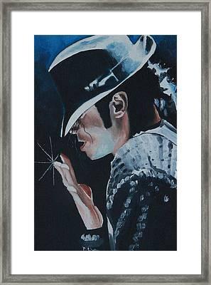 Michael Jackson Framed Print by Mikayla Ziegler