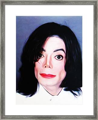 Michael Jackson Mugshot Framed Print by Bill Cannon