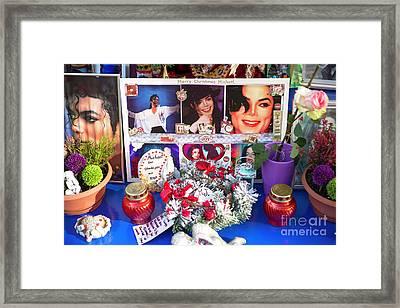 Michael Jackson Shrine Framed Print by John Rizzuto