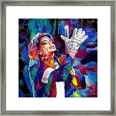 Michael Jackson Sings Framed Print by David Lloyd Glover