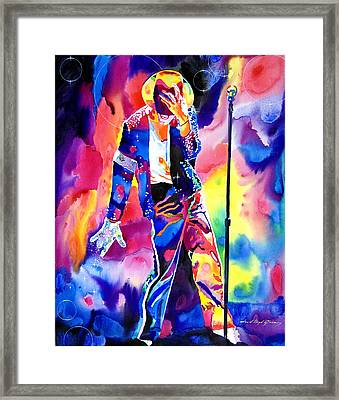 Michael Jackson Sparkle Framed Print by David Lloyd Glover