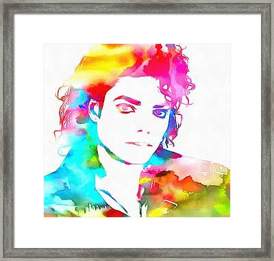 Michael Jackson Watercolor Framed Print by Dan Sproul