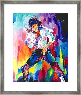 Michael Jackson Wind Framed Print by David Lloyd Glover