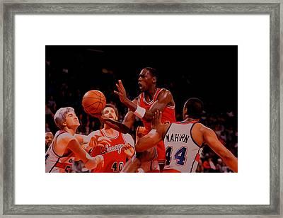 Michael Jordan 1984 Rookie Year Framed Print by Brian Reaves