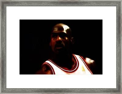 Michael Jordan Game Time Framed Print by Brian Reaves