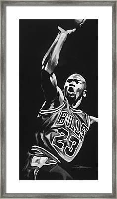 Michael Jordan  Framed Print by Don Medina